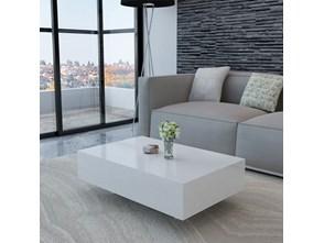 241259 Biały, błyszczący stolik do kawy, 85 cm