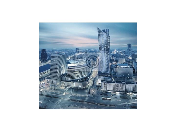 7e6278f6d2b966 Fototapeta Panorama współczesnej Warszawie nocą - Fototapety ...