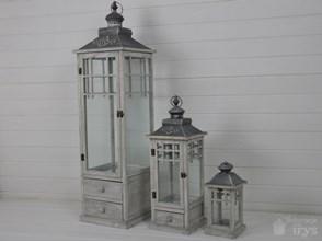 DREWNIANA LATARNIA LAMPION LAMPA SHABBY RETRO 115CM