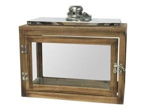 Lampion drewniany 30x18x32cm