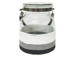 Lampion Stripe w Pasy 17x19cm