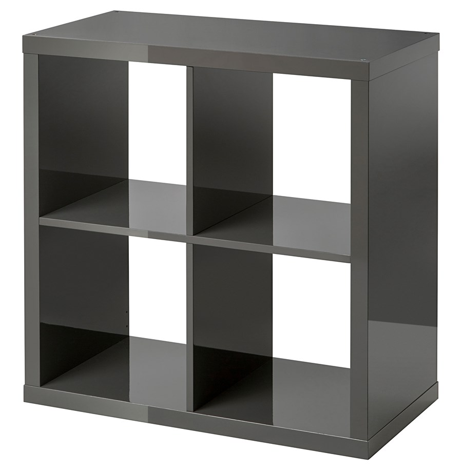 Kallax rega po ysk szary 77x77 cm ikea rega y for Meuble 4 cases ikea