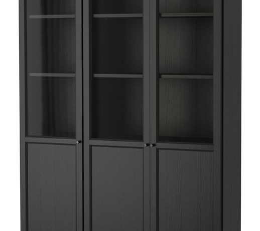 billy oxberg rega czarnobr z szk o 120x237x30 cm ikea szafki i rega y zdj cia. Black Bedroom Furniture Sets. Home Design Ideas