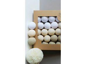 girlanda cotton balls pomys y inspiracje z homebook. Black Bedroom Furniture Sets. Home Design Ideas