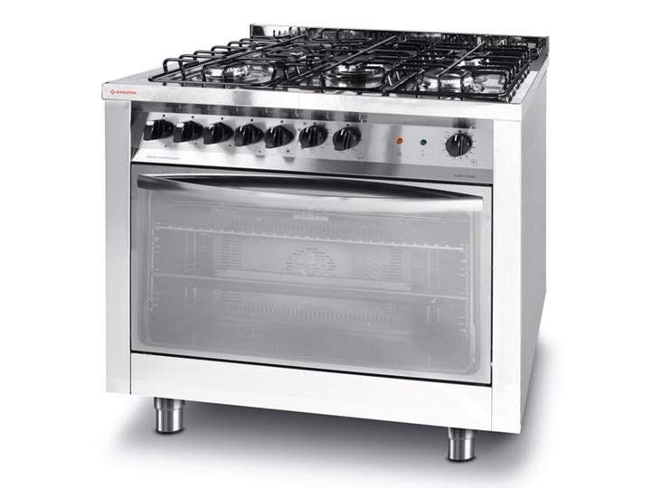 Kuchnia Gazowa 5 Palnikowa Z Konwekcyjnym Piekarnikiem Elektrycznym