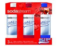 Sodastream zestaw butelek RETRO, BEZPŁATNY ODBIÓR: WARSZAWA, WROCŁAW, KATOWICE, KRAKÓW!