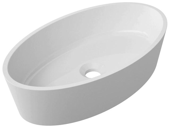MARBLE+ Umywalka nablatowa MARBLE+ Siena UN Biały połysk