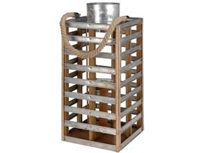 Metalowy lampion z uchwytem, świecznik dekoracyjny