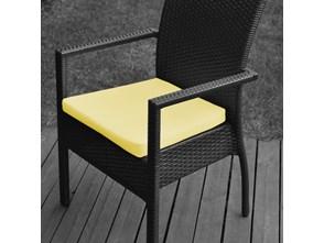 Wodoodporna poduszka do krzesła ogrodowego kolor żółty