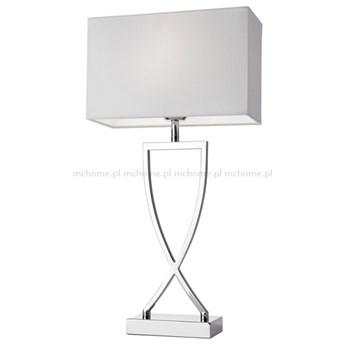 """LAMPA METALOWA SREBRNA Z ABAŻUREM """" CRISS CROSS L"""" 40 x 16 x 69 cm"""