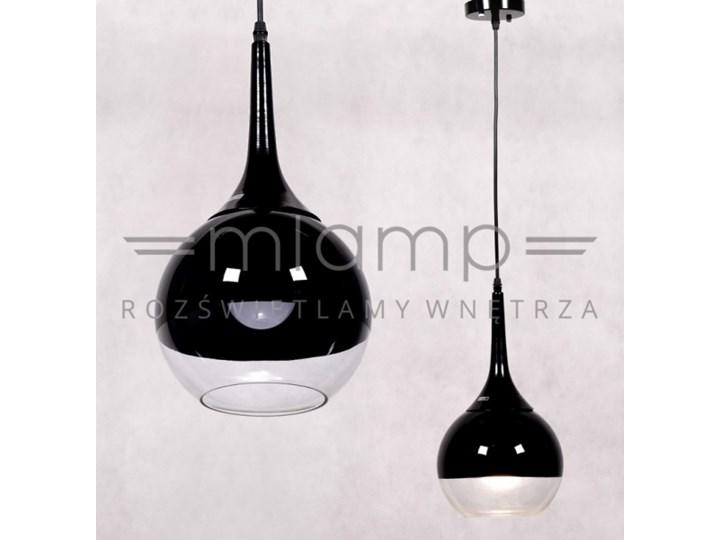 Lampa Wisząca Frudo Ldp 11003 1bk Lumina Deco Szklana Oprawa Zwis Kula Ball Czarna Przezroczysta