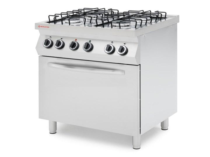 Kuchnia Gazowa 4 Palnikowa Z Konwekcyjnym Piekarnikiem Elektrycznym Gn 11 Kod 226438