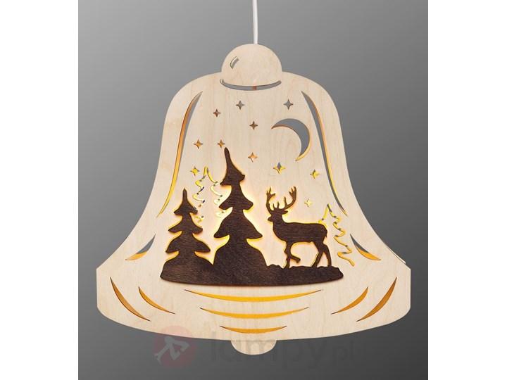 Drewniana Lampa Dekoracyjna Oświetlenie Okna Dzwon