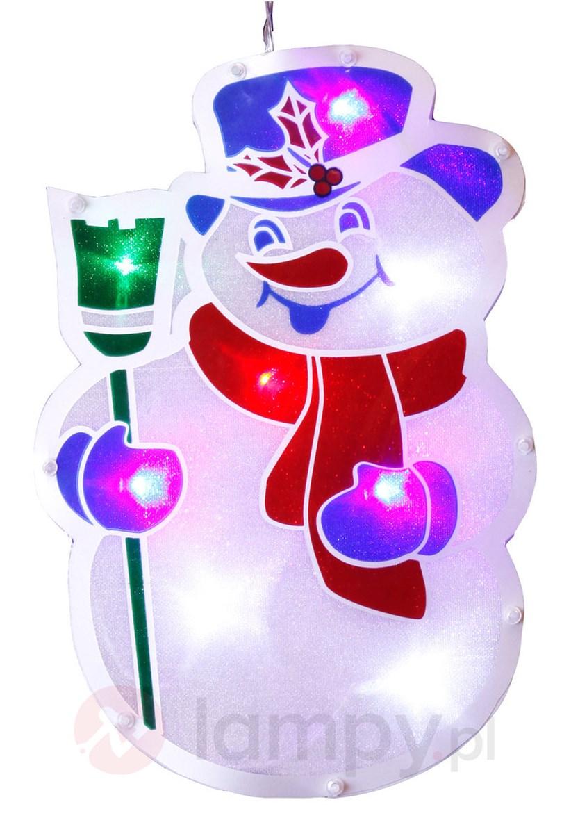 Dekoracja Okienna Bałwan Z Oświetleniem Led