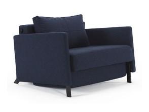 INNOVATION fotel rozkładany CUBED deluxe 90 z podłokietnikami