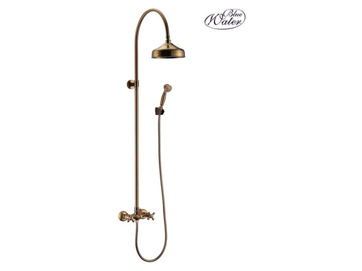 Art Platino Retro Zestaw Kabinowo Prysznicowy Natynkowy Stare Złoto