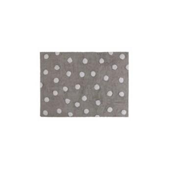 Dywan bawełniany Topos Gris/Grey 120x160 Lorena Canals, szary, kropki