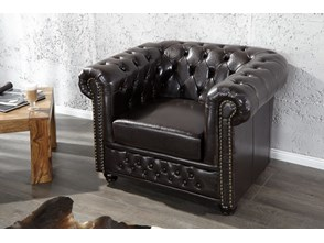 Fotel Ergo Dark Coffee Chesterfield (Z9684)