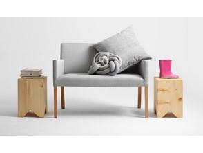 Krzesło Wilton Bench 84, platyna, naturalny