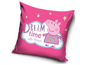TipTrade Poduszka Świnka Peppa Dream time, 40 x 40 cm