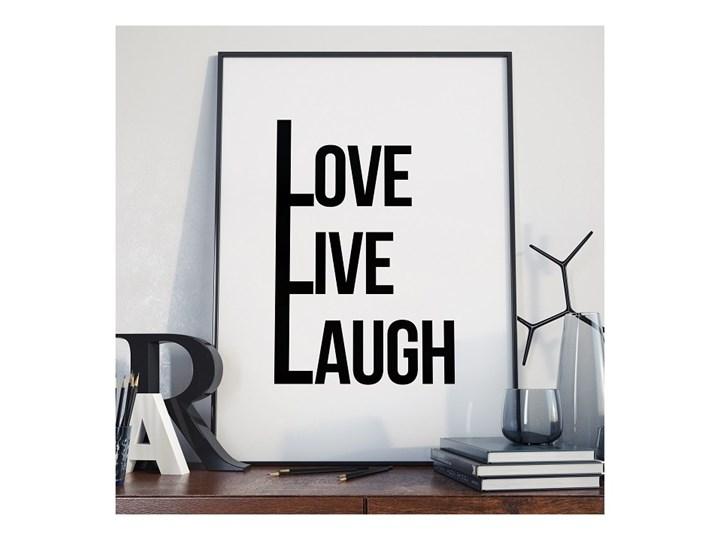 Love Live Laugh Plakat Z Napisami W Ramie