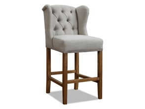 Krzesło barowe pikowane Lev 46x50x112 cm