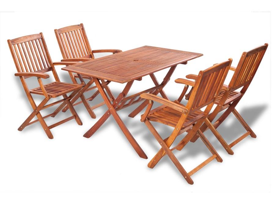 Meble Ogrodowe Vidaxl : 41812 vidaXL Zestaw jadalniany ogrodowy z drewna akacjowego, 5