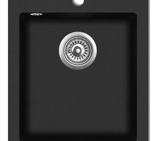 141672 Granitowy Jednokomorowy Czarny Zlewozmywak Zlewozmywaki