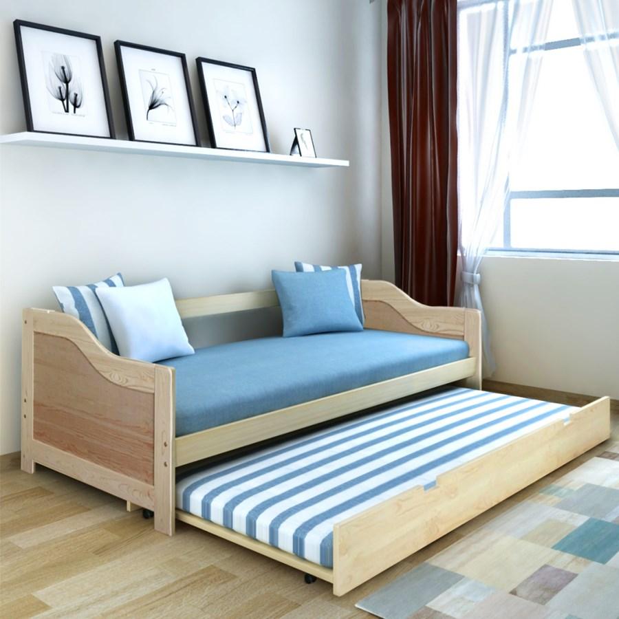 242954 vidaxl wysuwane ko sosnowe sofa 200x90 cm for Sofa 300 x 200