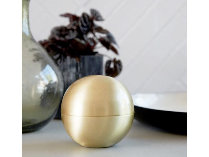 BALL GOLD HOUSE DOCTOR śr 10 cm Metal Kula Kolor Złoty