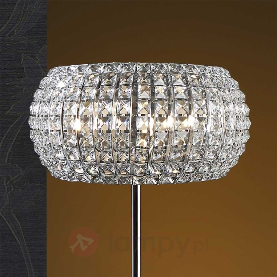 Lampa stoj ca diamond z kryszta kami lampy pod ogowe for Kristall stehlampe