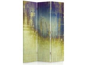 Abstrakcja - blask księżyca, Parawan pokojowy dwustronny obrotowy 360° na płótnie - Canvas