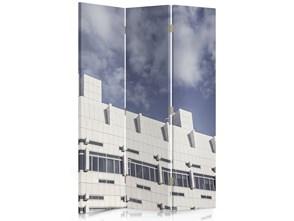 Widok budynku, Parawan pokojowy dwustronny obrotowy 360° na płótnie - Canvas