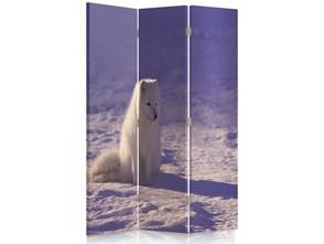 Lis polarny, Parawan pokojowy dwustronny obrotowy 360° na płótnie - Canvas