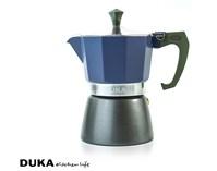 Kawiarka na indukcję 3 filiżanki błękitna