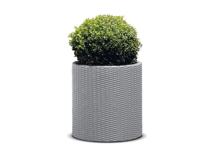 Curver Doniczka Keter Cylinder Planter L Srebrno Szary 224151