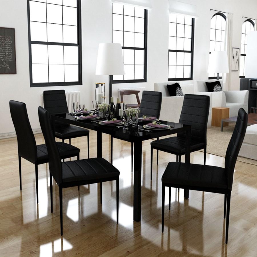 242271 zestaw do jadalni 6 krzese 1 st nowoczesny design sto y z krzes ami zdj cia for Salle a manger jysk