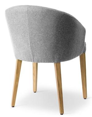 Push-Fa, Kolor - Szary jasny, Tapicerka - Tkanina, Podłokietnik - Tak, Nogi - Drewniane Krzesło Push-Fa