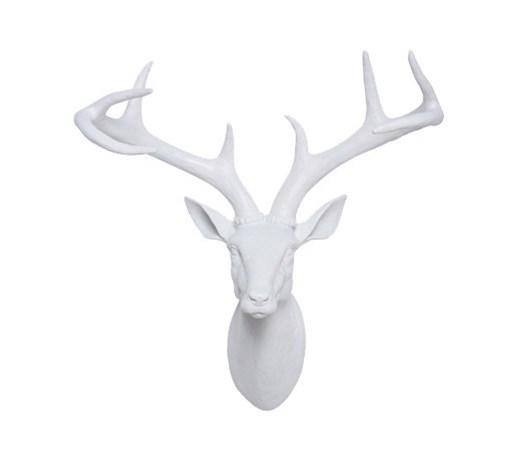 Kare design dekoracja cienna deer head bia a figury i rze by zdj cia - Tete de cerf blanche ...