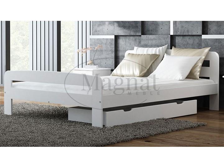 łóżko Drewniane Klaudia 120x200 Białe