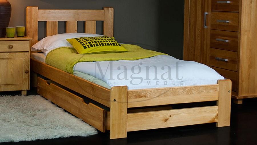 łóżko Drewniane Mila 90x200 Z Materacem Piankowym