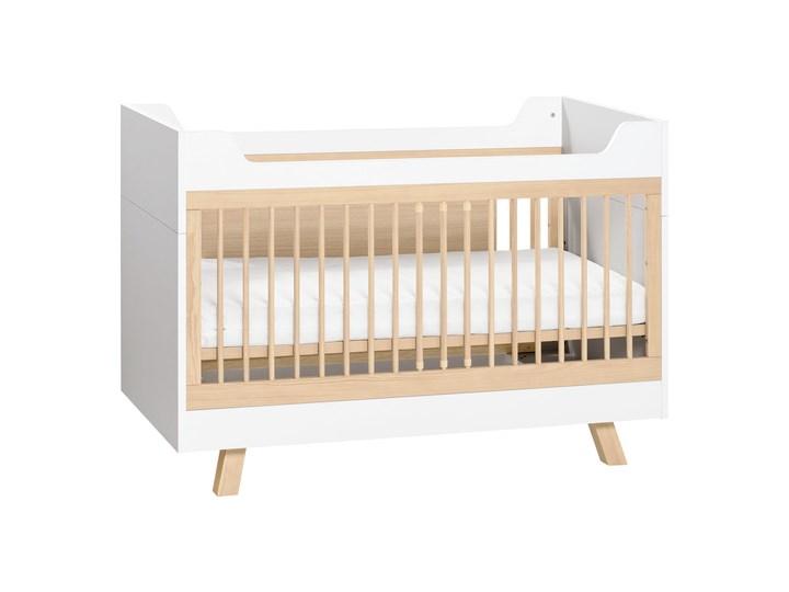 Łóżeczko 70x140 Rozmiar materaca 70x140 cm Drewno Łóżeczka drewniane Kolor Biały