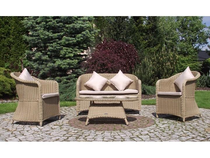 Siesta Zestaw Mebli Ogrodowych Z Technorattanu Sofa Plus Rattanowe Fotele Ogrodowe Stolik Kawowy Meble Ogrodowe Nr 077