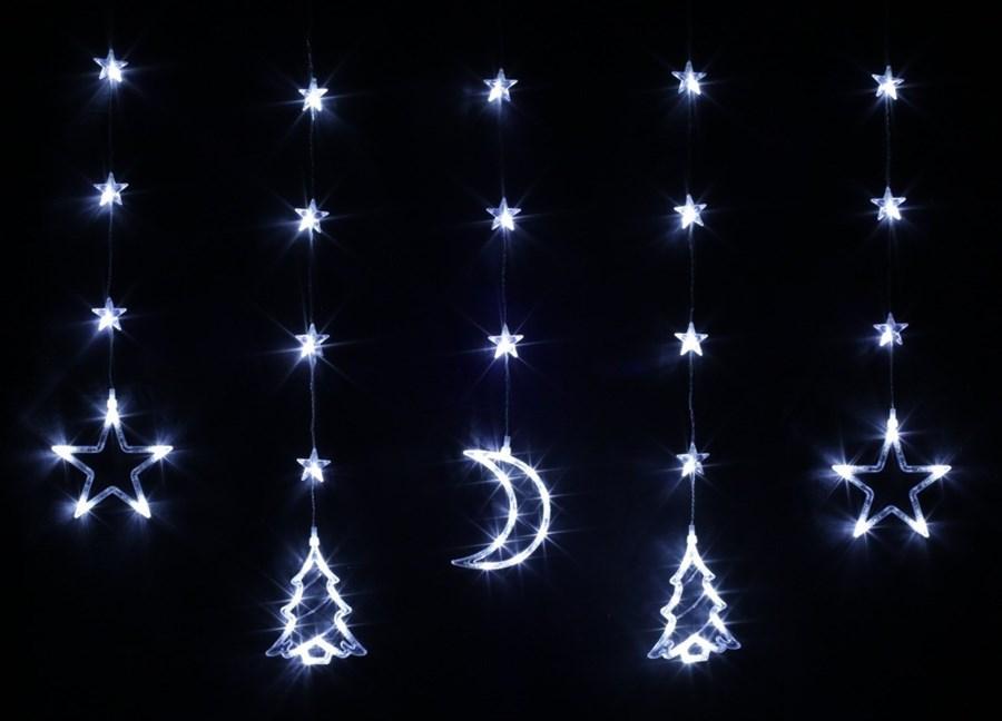 Bulinex Kurtyna świetlna Led Z Dekoracjami świątecznymi
