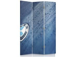 Logo BMW, Parawan pokojowy dwustronny obrotowy 360° na płótnie - Canvas