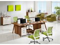 Styl nowoczesny Nowoczesny zestaw biurowy 4-stanowiskowy  EVOLUTIO B105 Meble biurowe