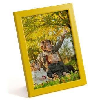 Ramki do zdjęć Olivia : Kolor - żółty, Rodzaj szybki - pleksi, Rozmiar ramki - 9x13 cm
