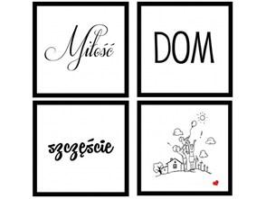 Zestaw 4 obrazków Miłość Knor