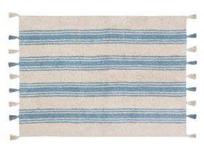 Dywan STRIPES 120x160cm Nile blue - Lorena Canals
