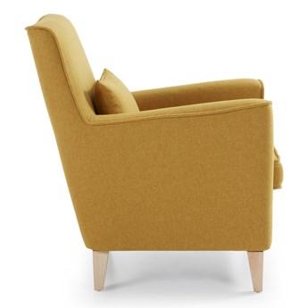 Tapicerowany fotel Fyna żółty